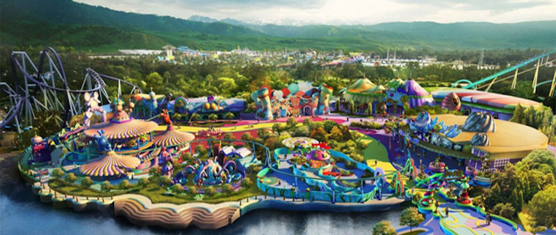 Universal theme park concept picture, Beijing, China