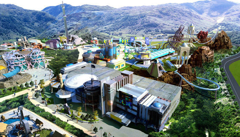Universal theme park--game park concept picture, Beijing, China