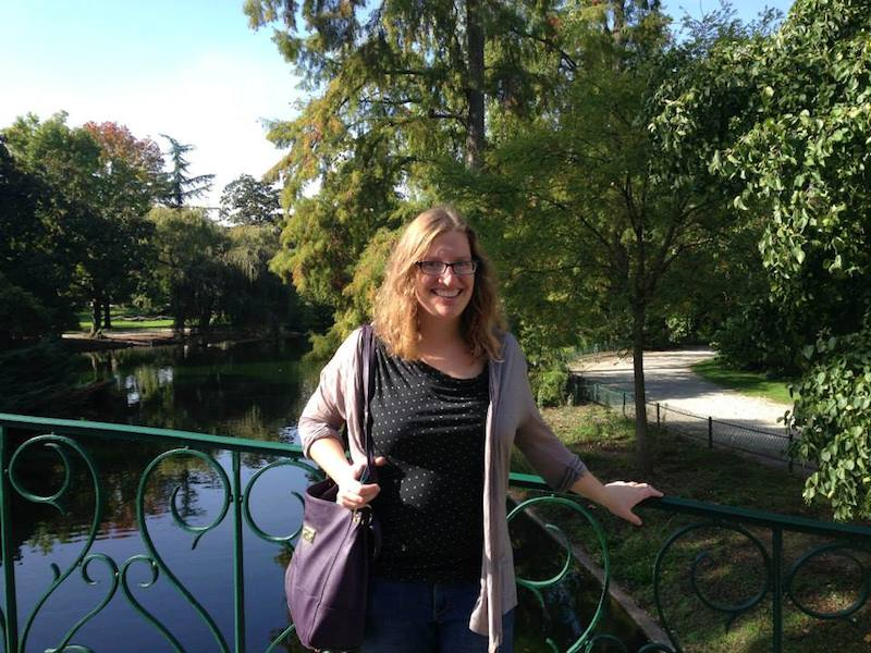 The Global Grid translator, Carmen Phillips, at a park in Bordeaux, France