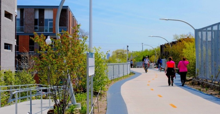 """Chicago's Elevated Greenway """"The 606"""" Solidifying its Identity as it Turns One"""