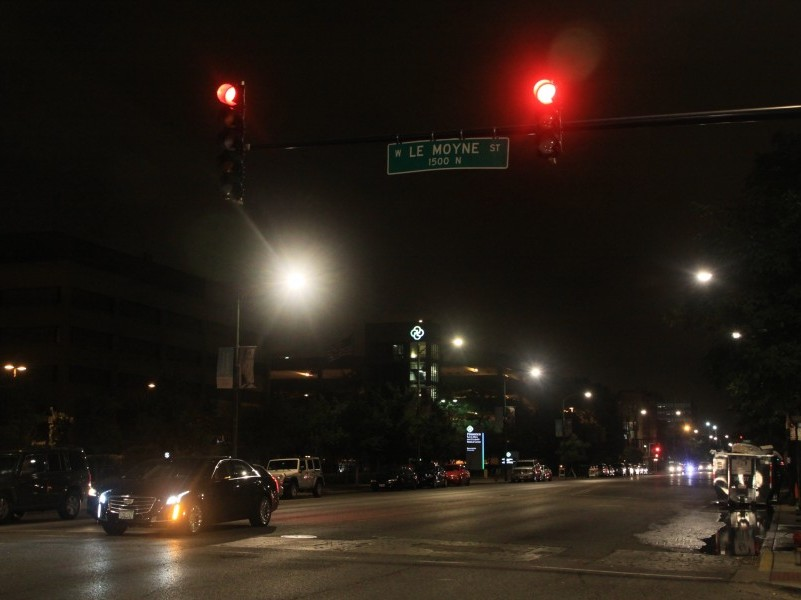 The new street lights have been installed on Western Ave, providing a much darker sky and clearer light.