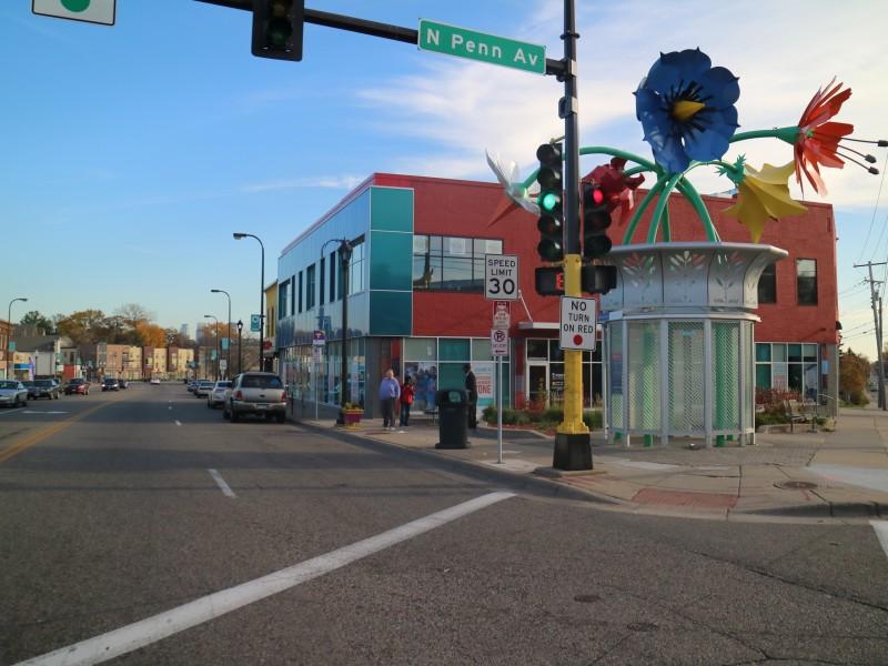 North Minneapolis Neighborhood on Penn Avenue, Minnesota