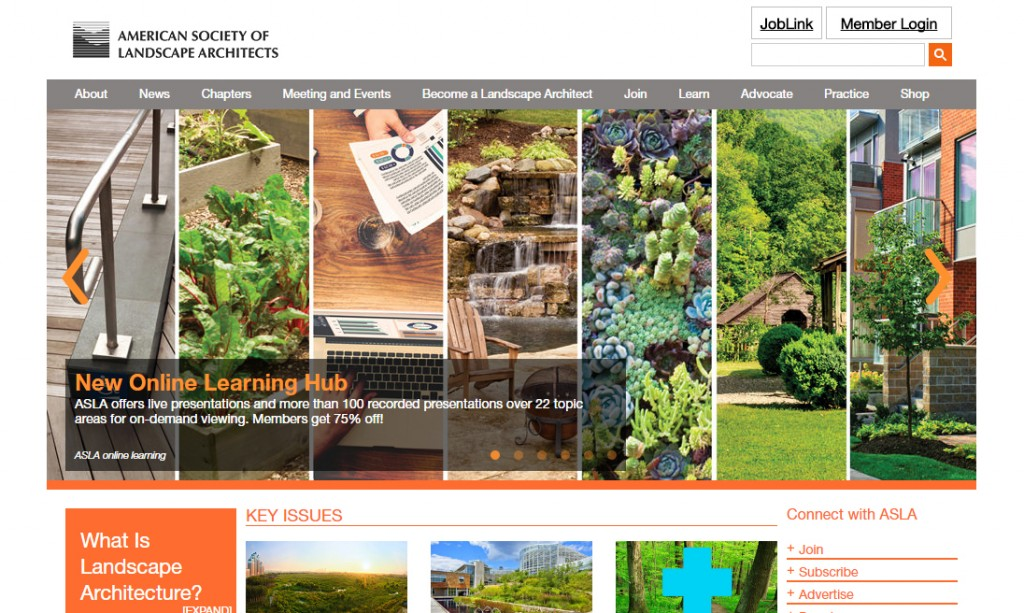 Top 20 landscape architecture websites of 2016 the for Best architects websites