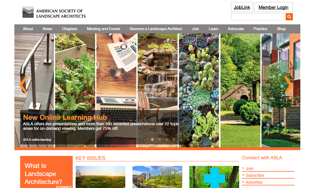 Top 20 landscape architecture websites of 2016 the for American institute of landscape architects