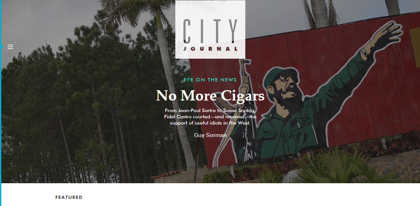 City Journal website homepage