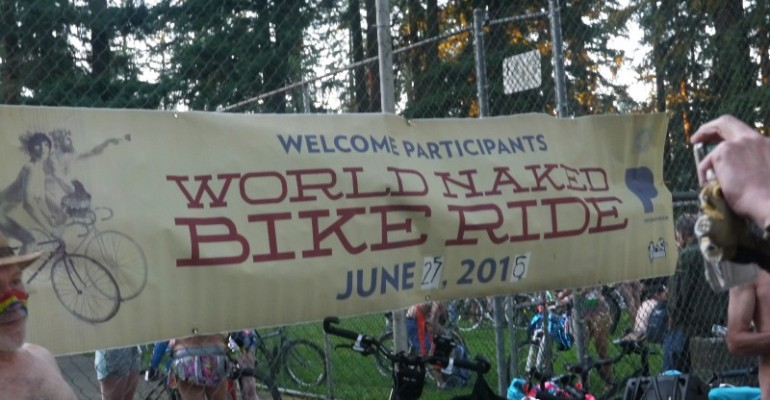 Planning Portland, Oregon's World Naked Bike Ride