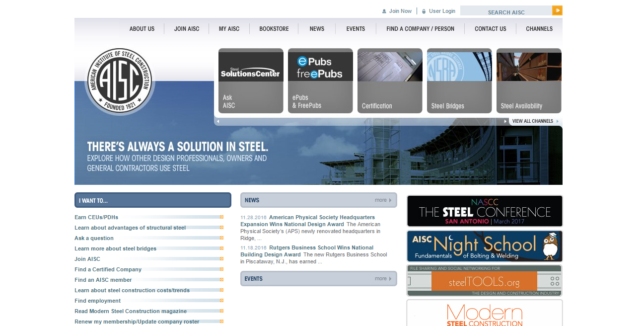 American Institute of Steel Construction (AISC)