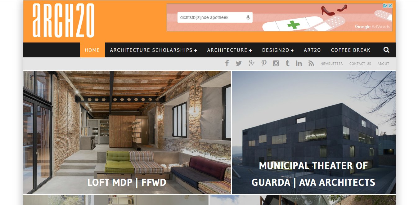 Arch2O home page
