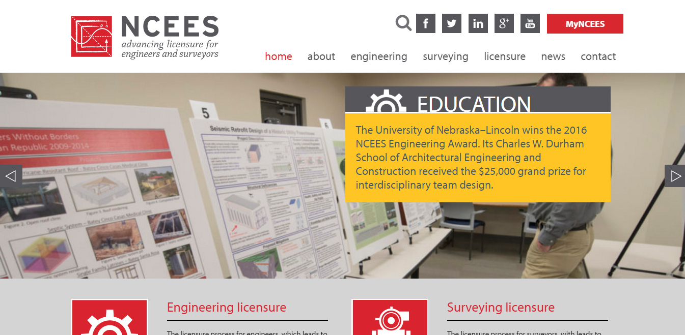 The National Council of Examiners for Engineering and Surveying (NCEES)