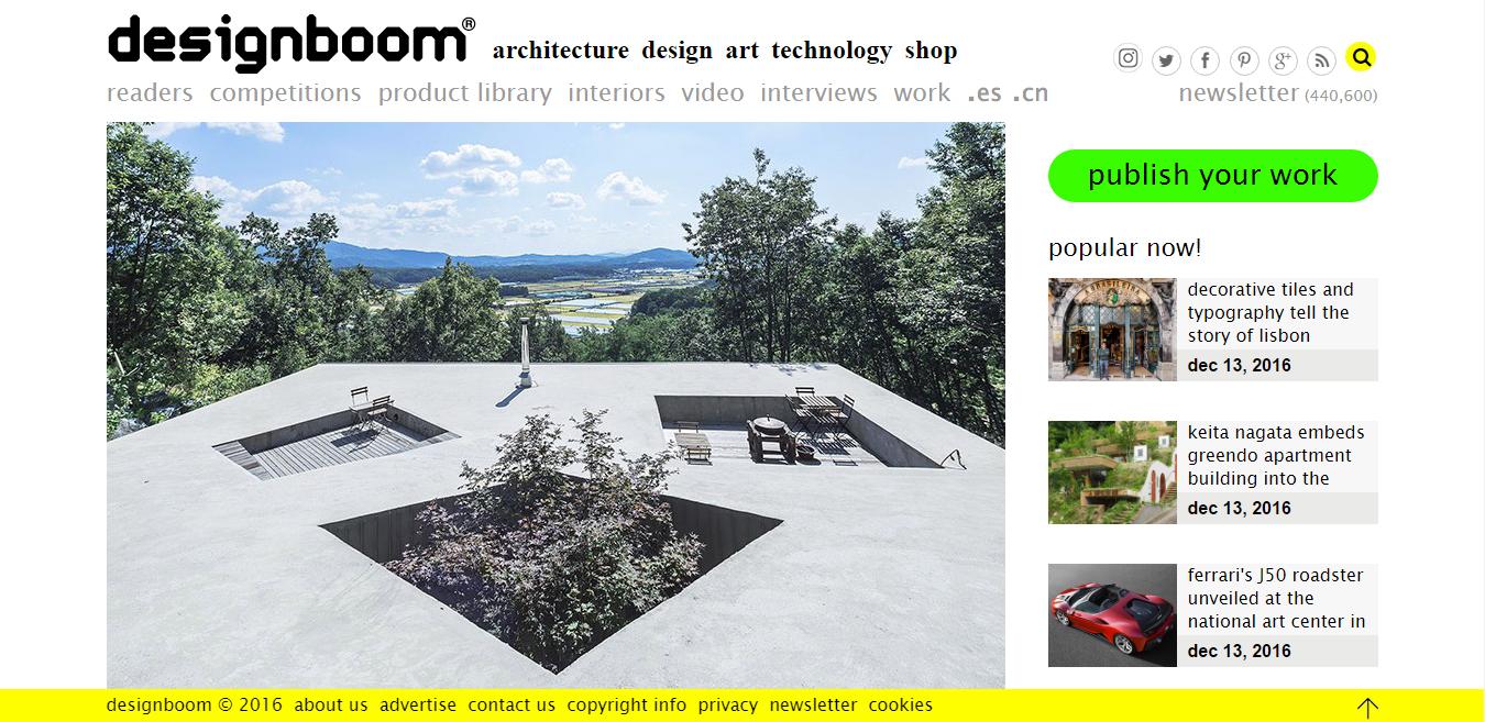 designboom home page