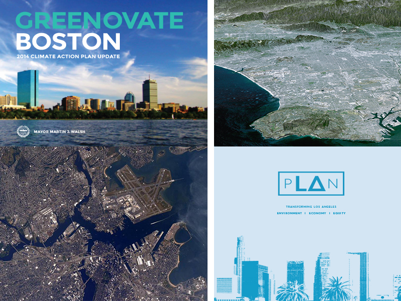 Boston and Los Angeles Climate Action & Sustainability Plans
