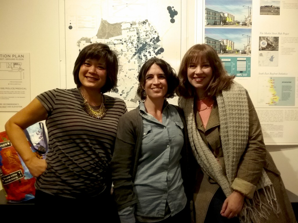 Blogger and urbanist reunion! Fay Darmawi, Rosabella Alvarez-Calderon and Renée Elaine Sazci