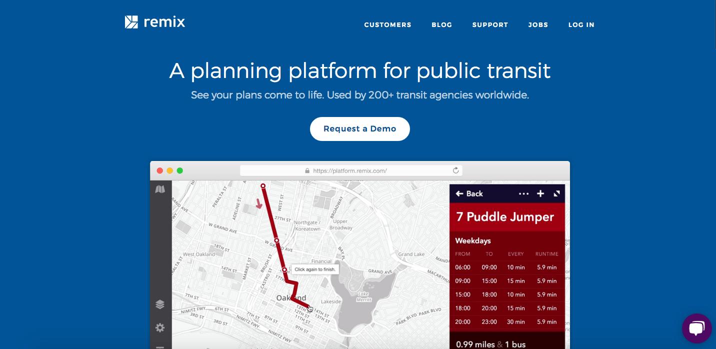 Remix Website Homepage_The Global Grid Top 20 Active Transportation Websites 2017