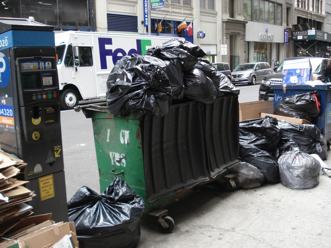 Waste, Midtown, New York City, New York, USA