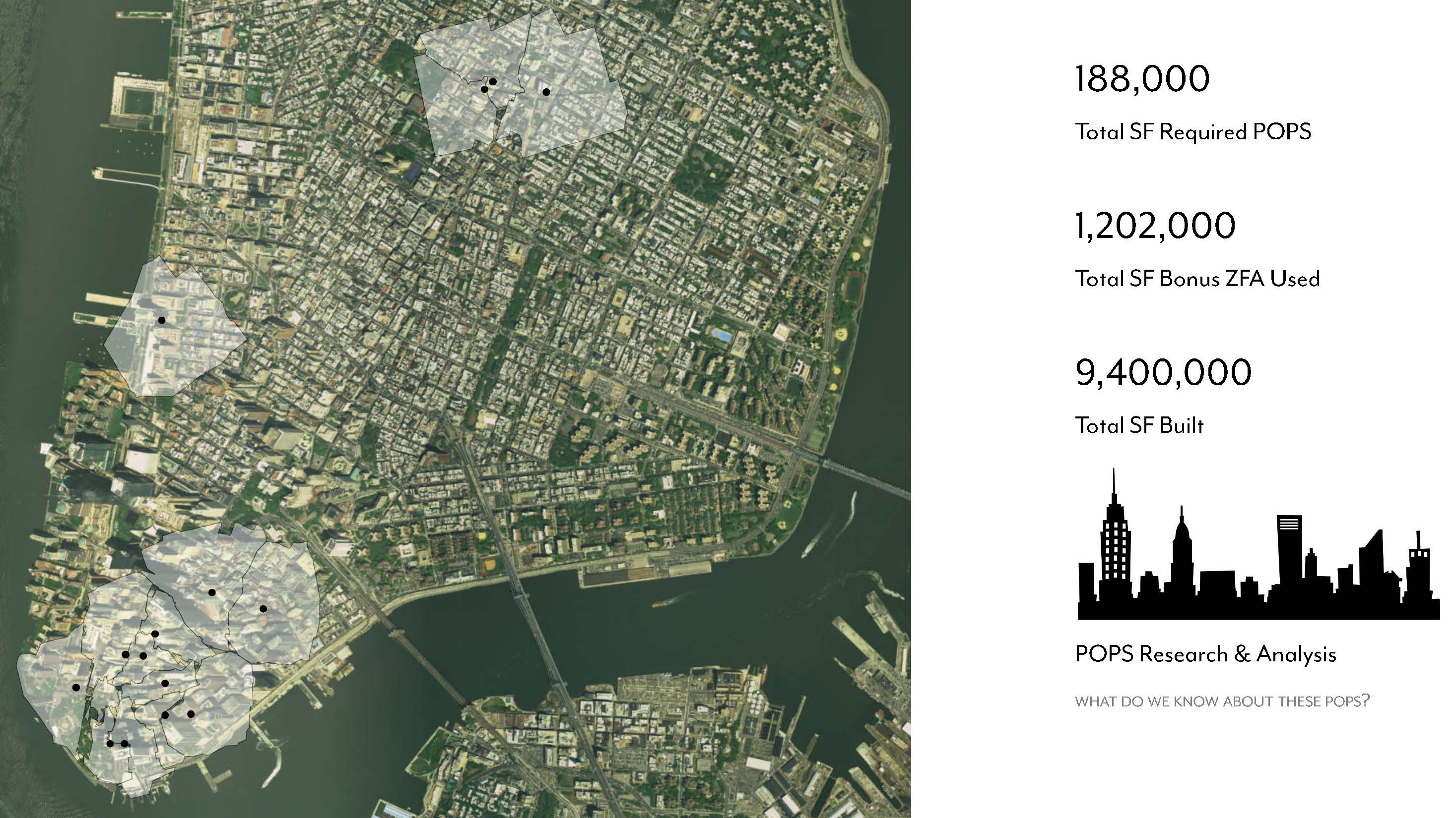 Development impact of POPS, Privately-Owned Public Space, New York City