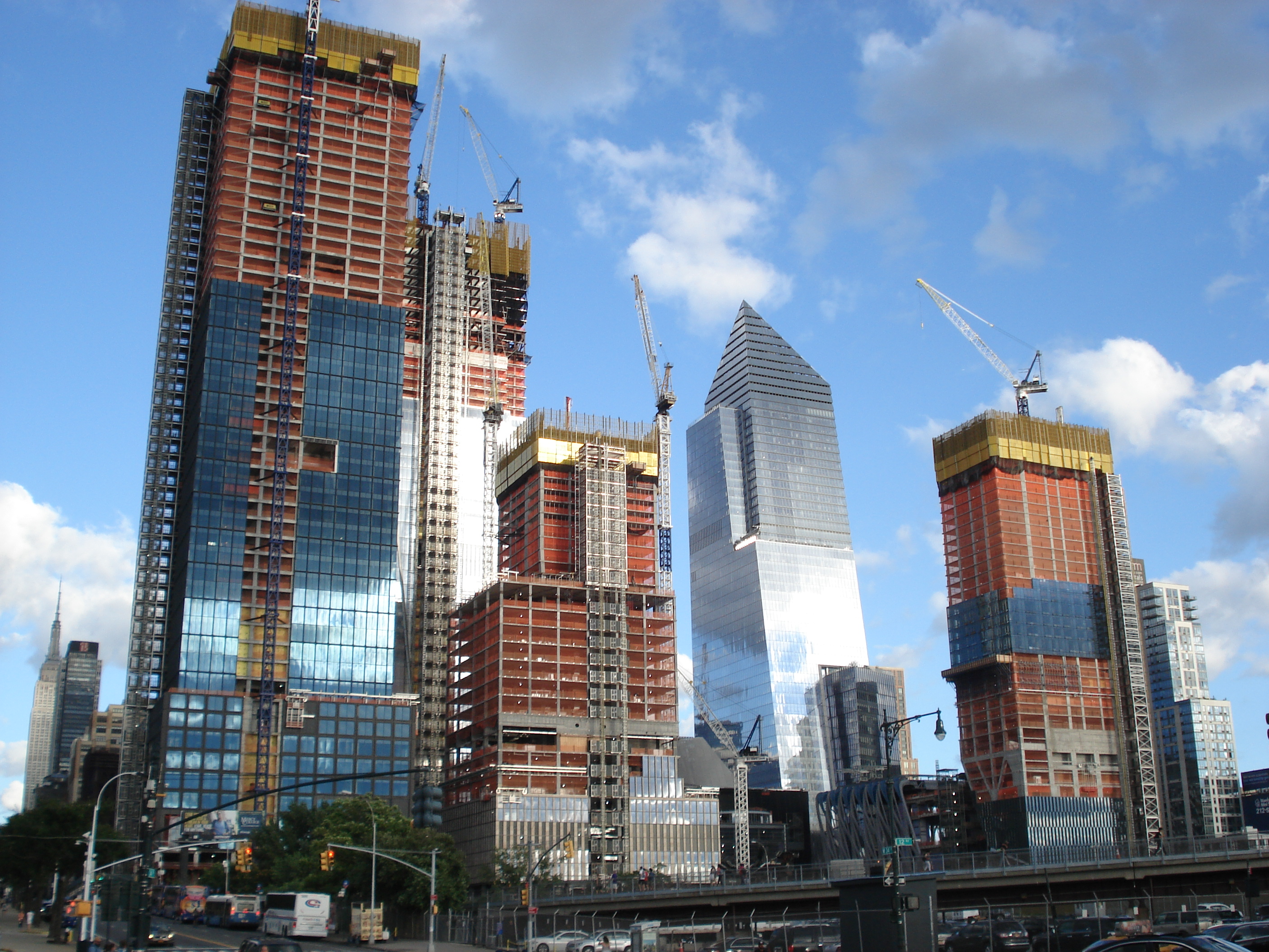 Hudson Yards construction, New York City, NY