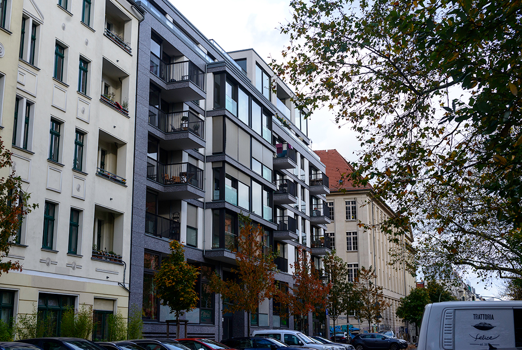 A new residential building in Prenzlauer Berg, Berlin, Germany