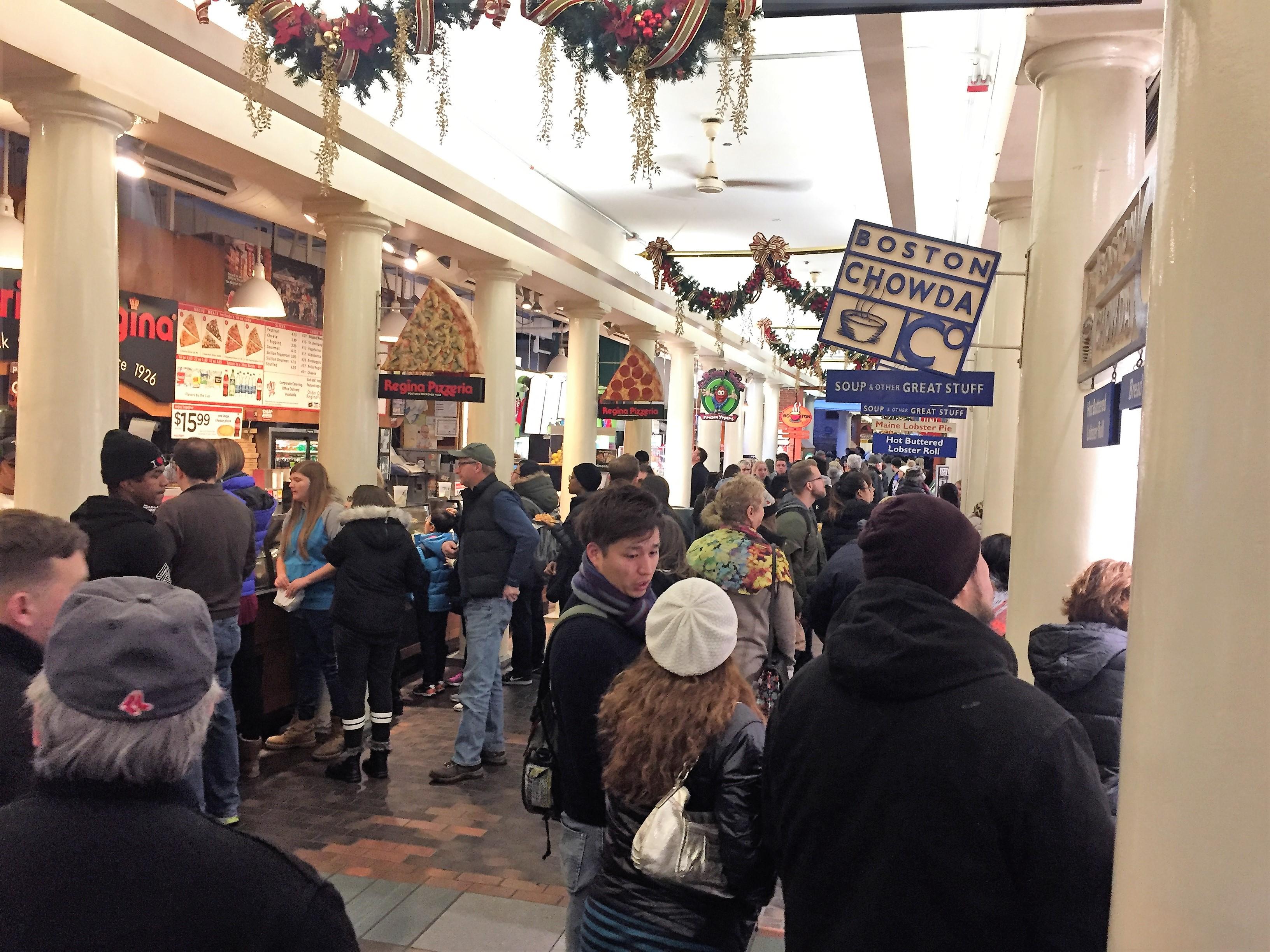 Quincy-Market-Vendors, Boston, Massachusetts, USA