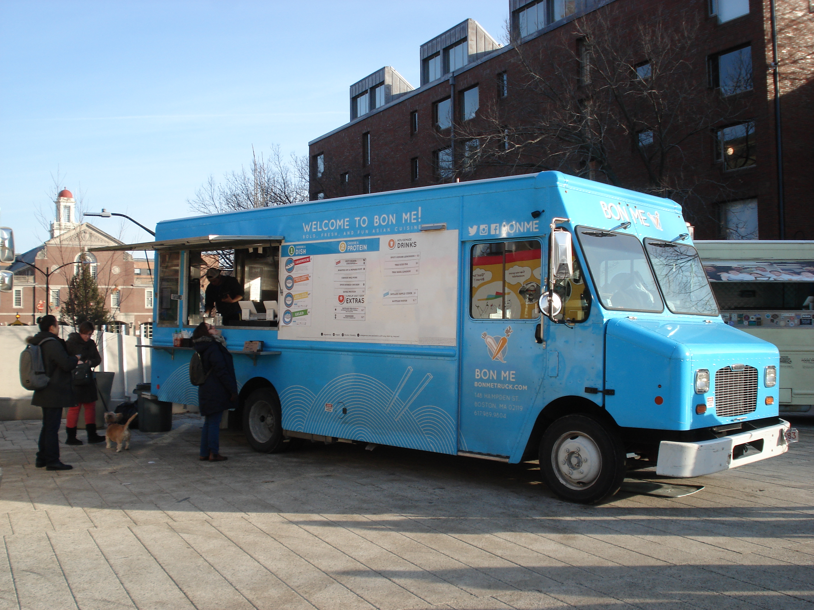 Bon Me Food Truck, Harvard University Campus, Cambridge, Massachusetts