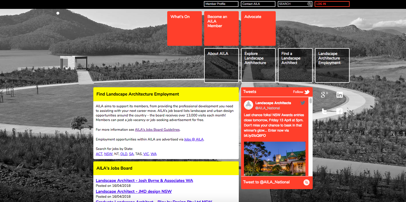 Top 10 landscape architecture jobs search websites the for Australian institute of landscape architects
